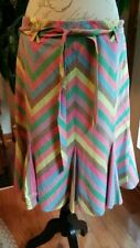Anthropologie Elevenses Rainbow Stripe Skirt - 12