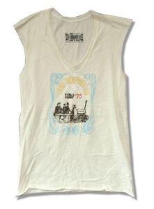 ba7093a9d29b8 Led Zeppelin Earl s Court 1975 Girls Juniors Cream Tank Top Shirt ...
