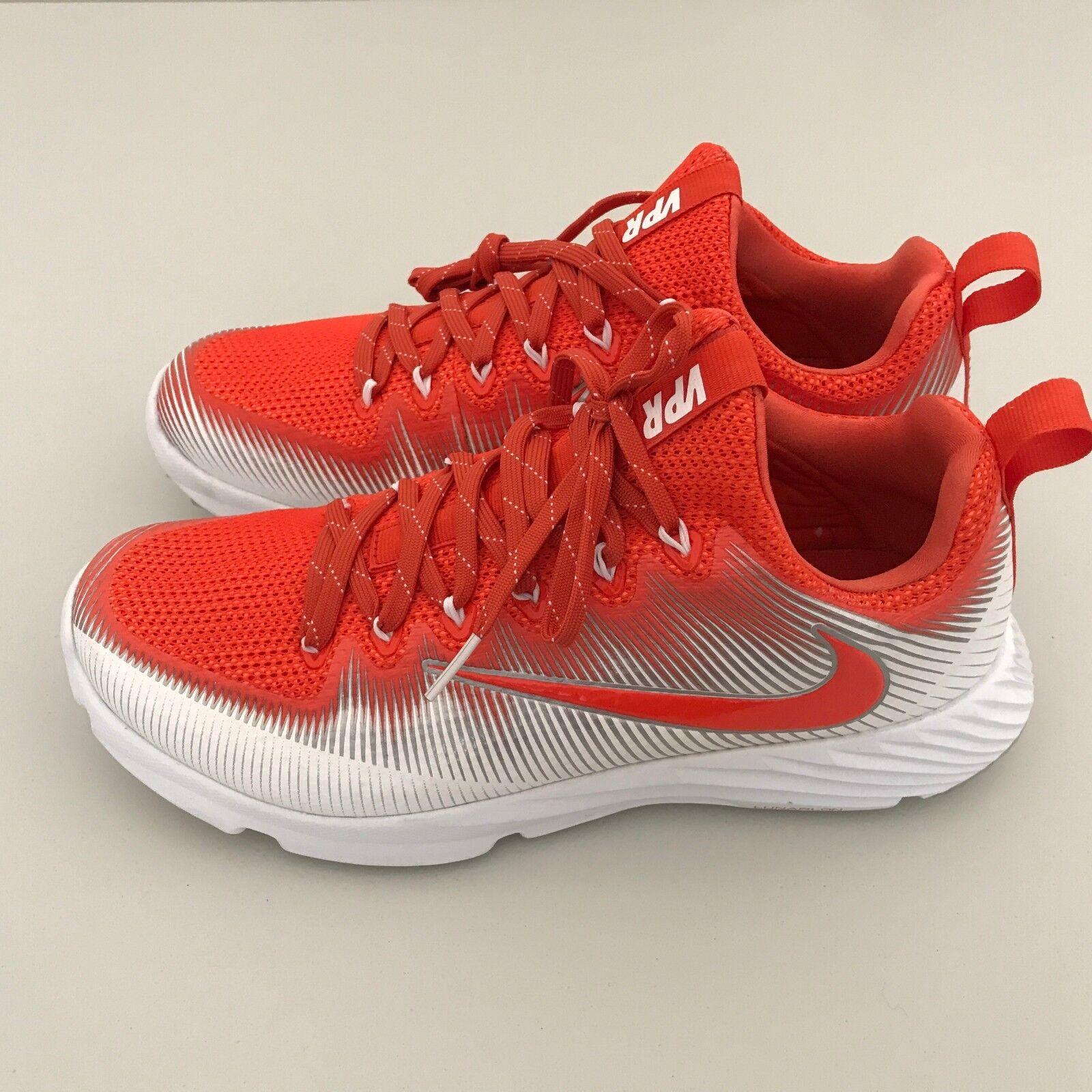 Nike Mens Vapor Speed Turf LAX Football Trainers White orange Sz 8 (848334-881)