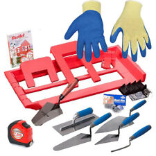 mega brIcky tool  kit   + TROWEL SET + TAPE + GLOVES
