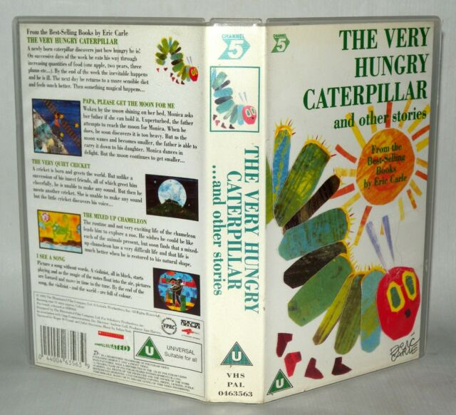 The Very Hungry Caterpillar - Vhs Tape & Case. Cert U. Collectable VHS