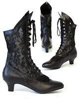 Gothic Victorian Steampunk Vintage Burlesque Cancan Wedding Lace Boots Retro