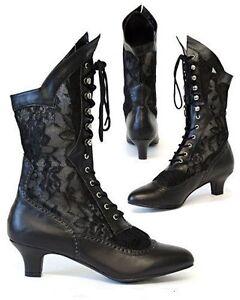 Black Boots Fashion Lace Up Velvet
