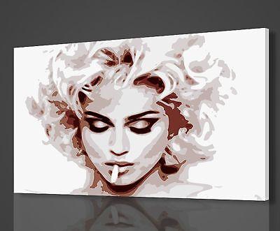 MADONNA SMOKING POP ART STYLE MUSIC BOX CANVAS PRINT WALL ART PICTURE PHOTO