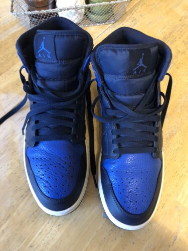 Nike Air Jordan 1 Mid Obsidian Game Royal Size 10.