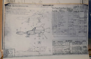 Dinky Toys pre-production technical drawings