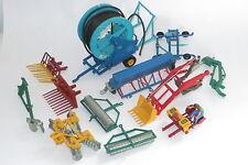 vintage Britains ltd 1:32 farm accessory lot post hole digger roller plough etc