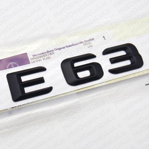 New ABS E 63 Emblem 3D Trunk Logo Nameplate Badge Decoration AMG Matte Black