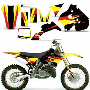 Decal Graphic Kit Suzuki RM RM Dirt Bike Number Backgrounds - Decal graphics for dirt bikes