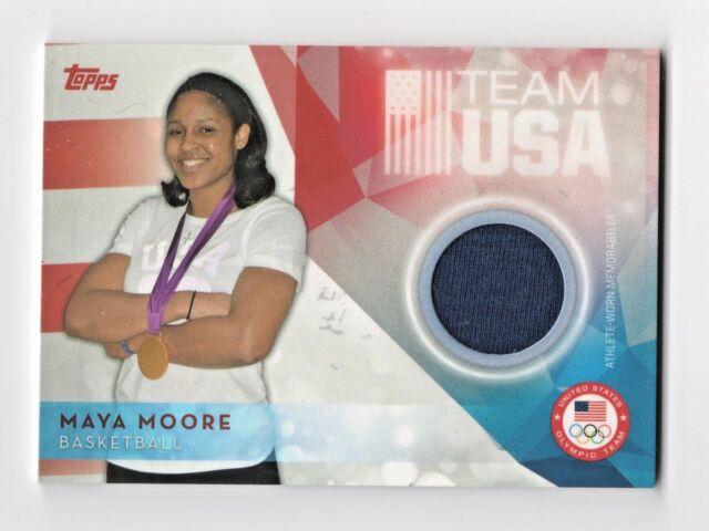 2016 Topps USA Olympic Team Relics Maya Moore Minnesota Lynx Basketball