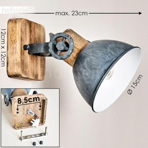 Vintage Wand Decken Lampe Holz//grau Flur Wohn Schlaf Zimmer Leuchte verstellbar