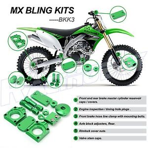 s l300 mx kawasaki green bling kits kx450f 2009 2017 kx250f 2008 2017  at cos-gaming.co