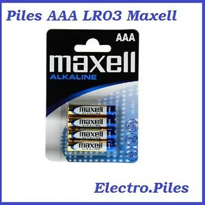 Piles-batons-AAA-LR03-de-marque-Maxell-expedition-rapide-et-gratuite