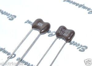 2pcs-Cornell-Dubilier-150p-150pf-0-15nf-500v-5-versilbert-Glimmer-Kondensator