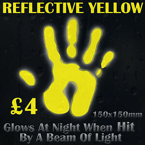 Yellow-Reflective-Vinyl-Sticker-Glows-At-Night-When-Hit-By-a-Beam-of-Light