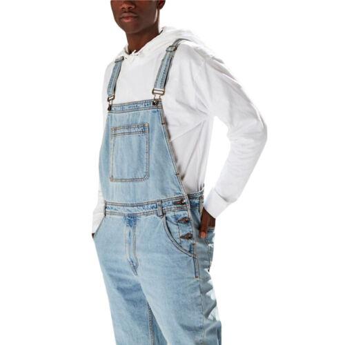 Herren Latzhose Trägerhose Distressed Jeans Jumpsuit Denim Hosen Slim Overalls