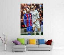 Messi & Ronaldo Real Madrid Barcelona Barca Fc Poster gigante pared arte Foto impresión