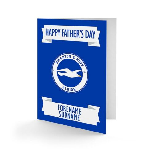 Brighton /& Hove Albion F.C Personalised Greetings Card CREST