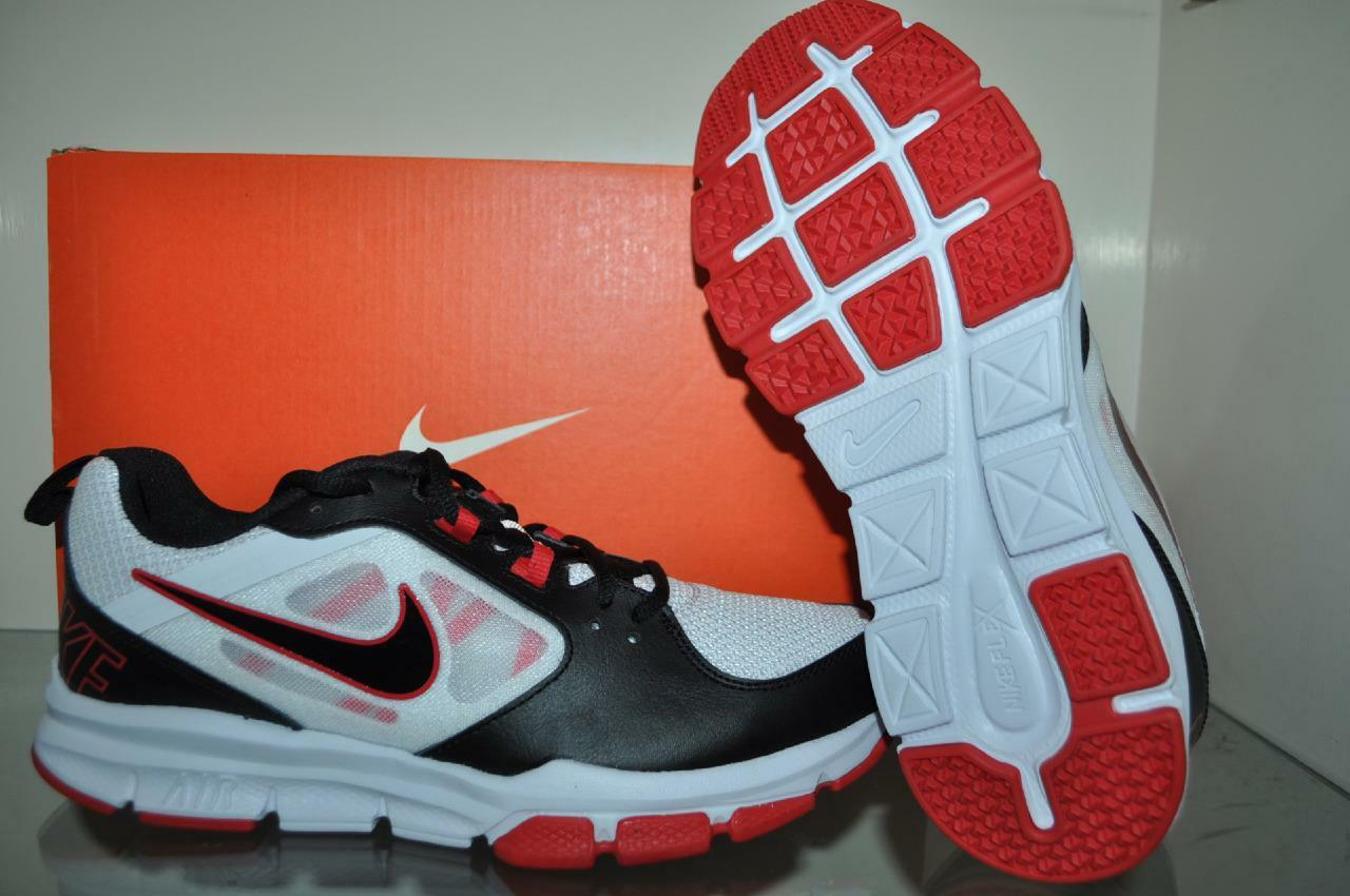 Nike Air Velocitrainer 554891 100 Mens Running Shoes White/Black/Red NIB
