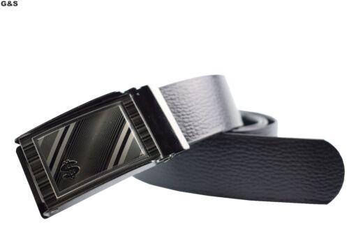 NUOVA linea uomo SMART UK venditore Similpelle Cintura Automatica Jeans Tuta Pantaloncini Comfort