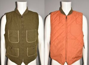 DOUBLE RL RALPH LAUREN NEW $395 Reversible Wool Hunting Vest Men's Medium