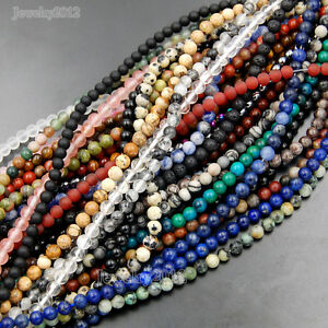 Wholesale-Lot-Natural-Gemstone-Round-Spacer-Loose-Beads-6mm-8mm-10mm-15-5-034
