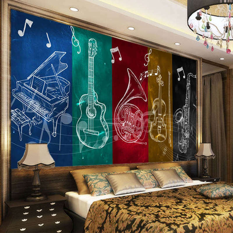 Musical Instrument 3D Full Wall Mural Photo Wallpaper Printing Home Kids Decor