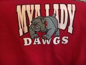 Mya Lady Dawgs Bulldogs Rouge Graphique à Capuche Veste Handwarmers L 1733 D-afficher Le Titre D'origine