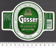 Beer Label - Goss Brewery - Austria - Gosser Marzan
