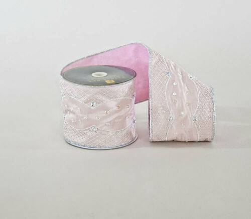 "Katherine/'s Collection 4/"" x 5Y FiFi Silver Net Ribbon 30-830172 $52.99"