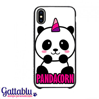 Cover Per Iphone X Con Stampa Pandacorn Panda Unicorno Kawaii