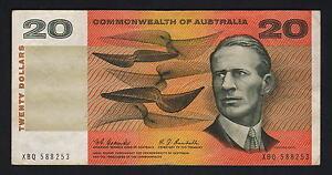 Australia-R-402-1967-20-Dollars-Coombs-Randall-1st-Prefix-XBQ-aVF-VF