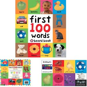Baby-First-100-Words-Book-Toddler-Early-Learning-Educational-Board-Pictures-Gift