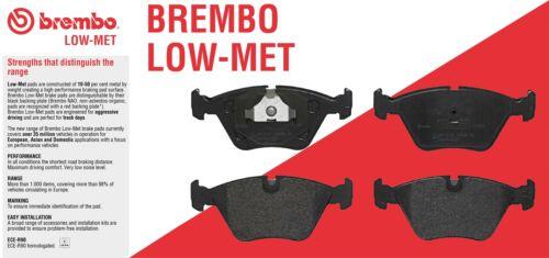 Rear Brake Pad Set Low Met Brembo Sensor for BMW F30 F31 F32 F34 F36 M Sport PGK