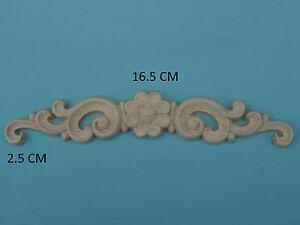 Image Is Loading Decorative Wooden Flower Amp Scroll Furniture Mouldings  Applique