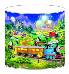 Thomas the tank engine childrens lampshades ceiling light table image is loading thomas the tank engine children 039 s lampshades mozeypictures Images