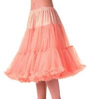 Banned 50s Dress Rockabilly Super Soft Light Petticoat Under Skirt 26 Long Pink