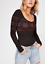 NEW Free People Intimately Seamles Intarsia Top Snowflake Black XS//S-M//L $62.88