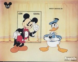 Never Hinged 1994 Walt-disney-f Unmounted Mint Ghana Block244 complete Issue