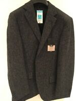 M&s Men's Grey Pure Wool Slim Fit Jacket Uk 40 L