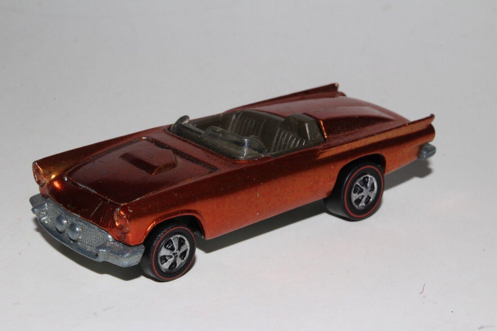 Hot Wheels rougeline Classique '57 Ford T-Bird, Métal Orange,Agréable,Original