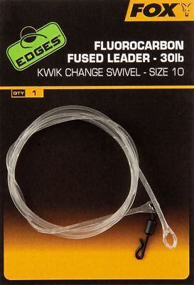 carp fishing  1m 3x Safezone leaders clear fluorocarbon fused quick link