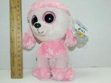 AS IS Boo  111 NWT RETIRED TY Princess the pink poodle Beanie Boos 2013 Eyes 6646b49eece6