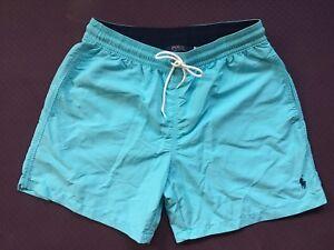 edc2fde629 Image is loading Polo-Ralph-Lauren-Swim-Shorts-Traveler-Trunk-Turquoise-