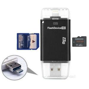 Flash Drive USB Micro SD TF OTG Card Reader PC IDevices High Speed IFlashDrive