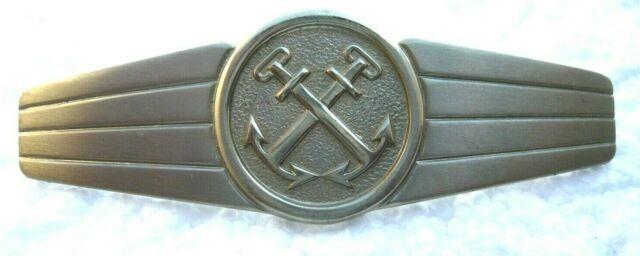Bundesmarine Tätigkeitsabzeichen allgemeiner Marinedienst silber//gold auf oliv