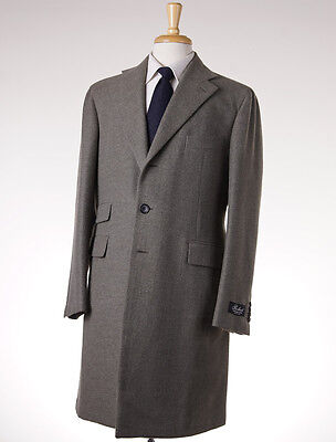 NWT $3895 BELVEST Sage Green Cashmere Coat Slim Eu 50 (fits 38 R) Overcoat