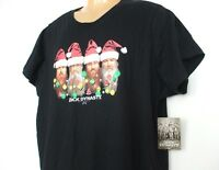Duck Dynasty Women's 2x Tee Tshirt Black Holiday Lights Santa Hats