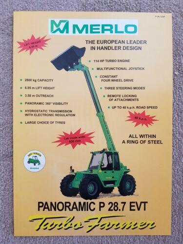 MERLO P28.7 EVT TURBO FARMER TELESCOPIC SALES LEAFLET