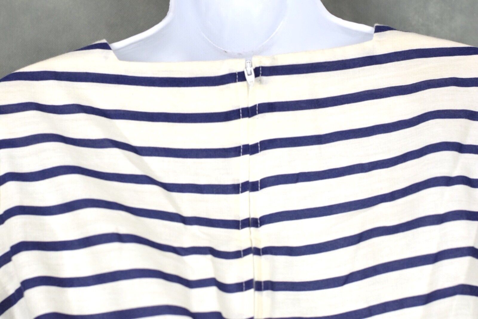 Vintage No Brand White And Blue Dress Lot Size 12 - image 9